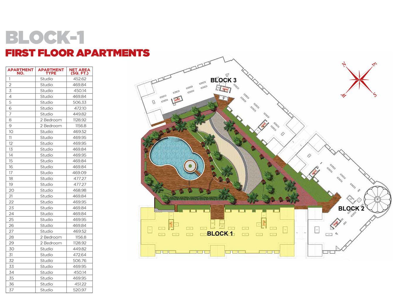 First Floor Apartments Block 1