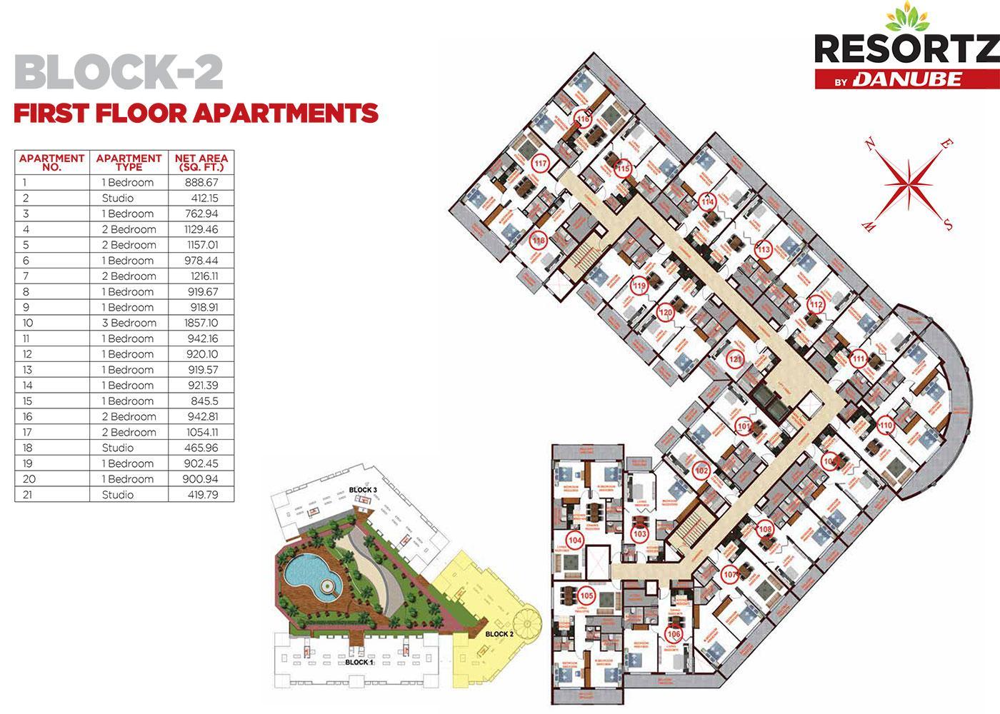 First Floor Apartments Block 2