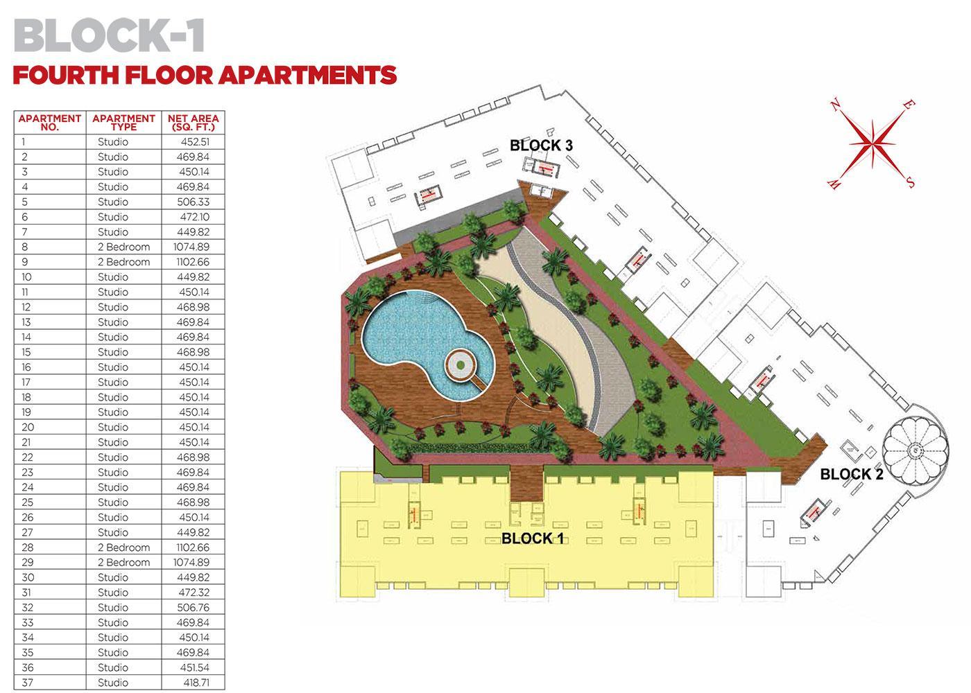 Fourth Floor Apartments Block 1