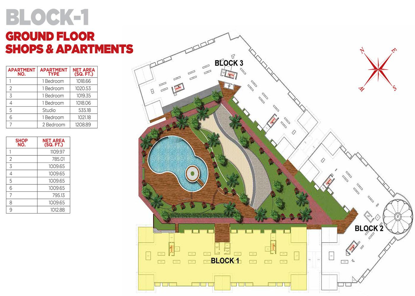Ground Floor Apartments Block 1