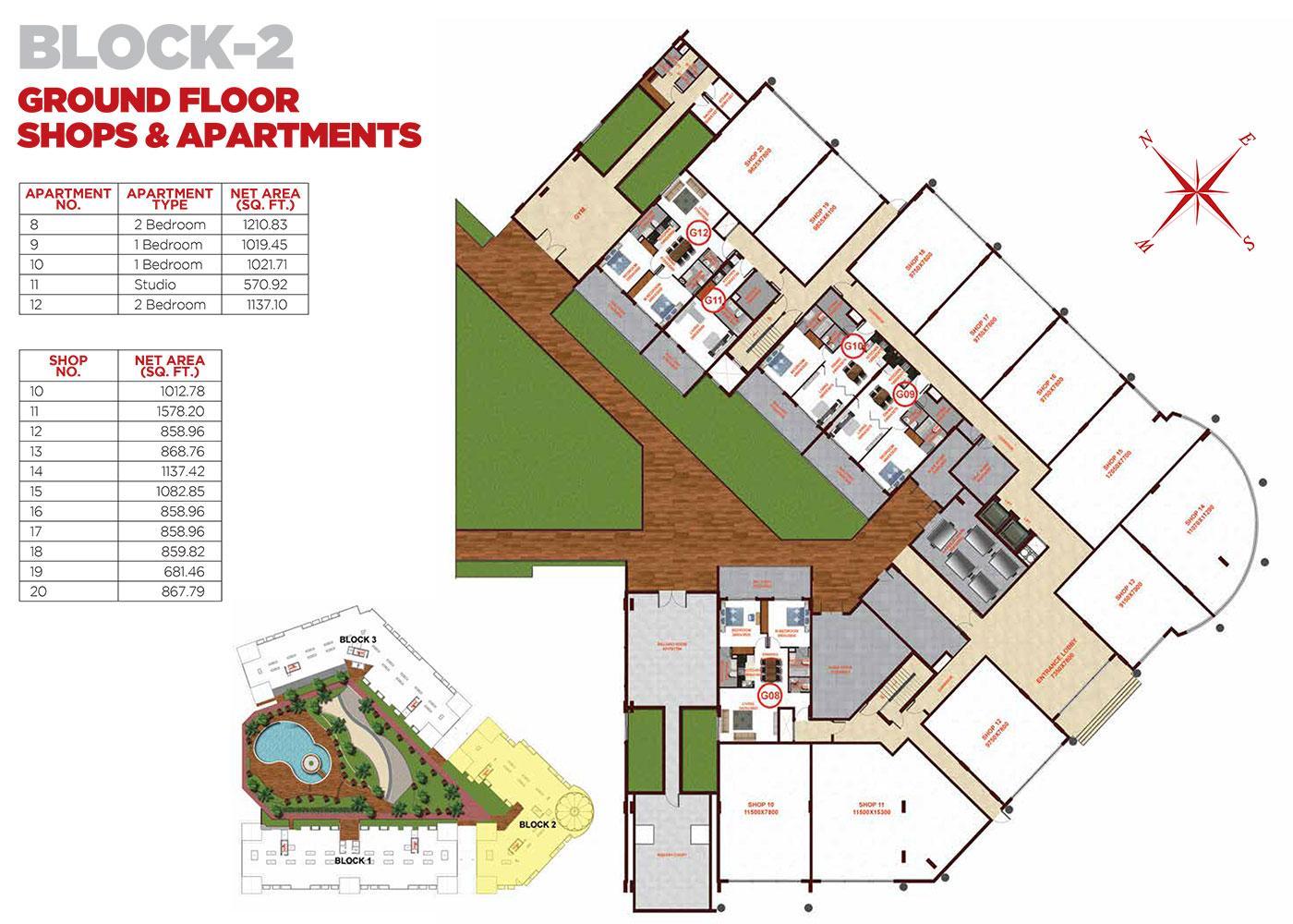 Ground Floor Apartments Block 2