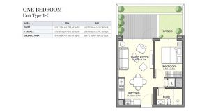 One-Bed-Unit-Type-1-C-695.99-696-53Sq-Tf