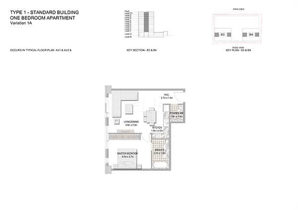 One Bedroom Apartment Standard Building Variation 1a