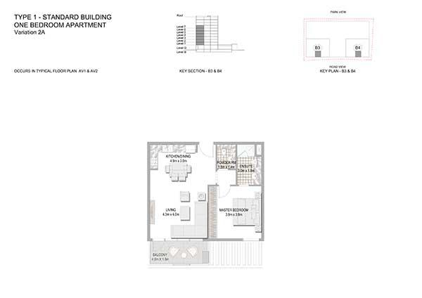 One Bedroom Apartment Standard Building Variation 2a