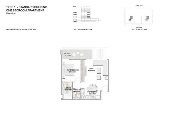 One Bedroom Apartment Standard Building Variation 5a