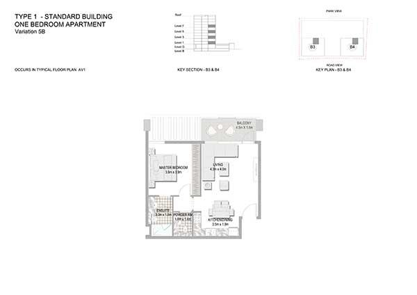One Bedroom Apartment Standard Building Variation 5b