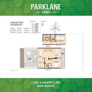 Parklane Views Two Bedroom Duplex Type B Middle Unit