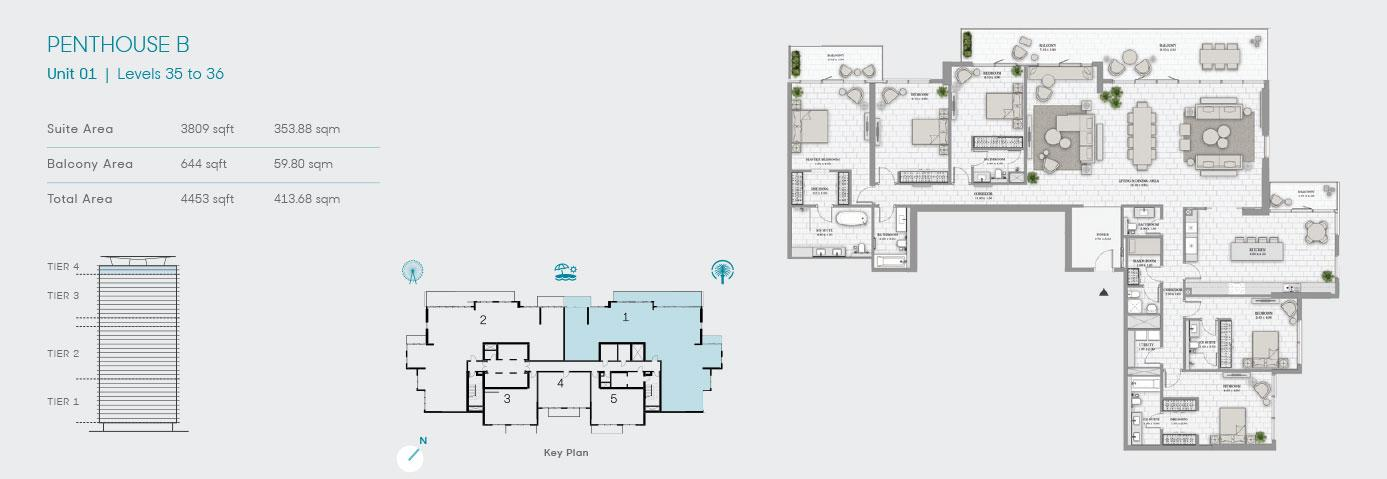 Penthouse B Unit 1 4453sqft
