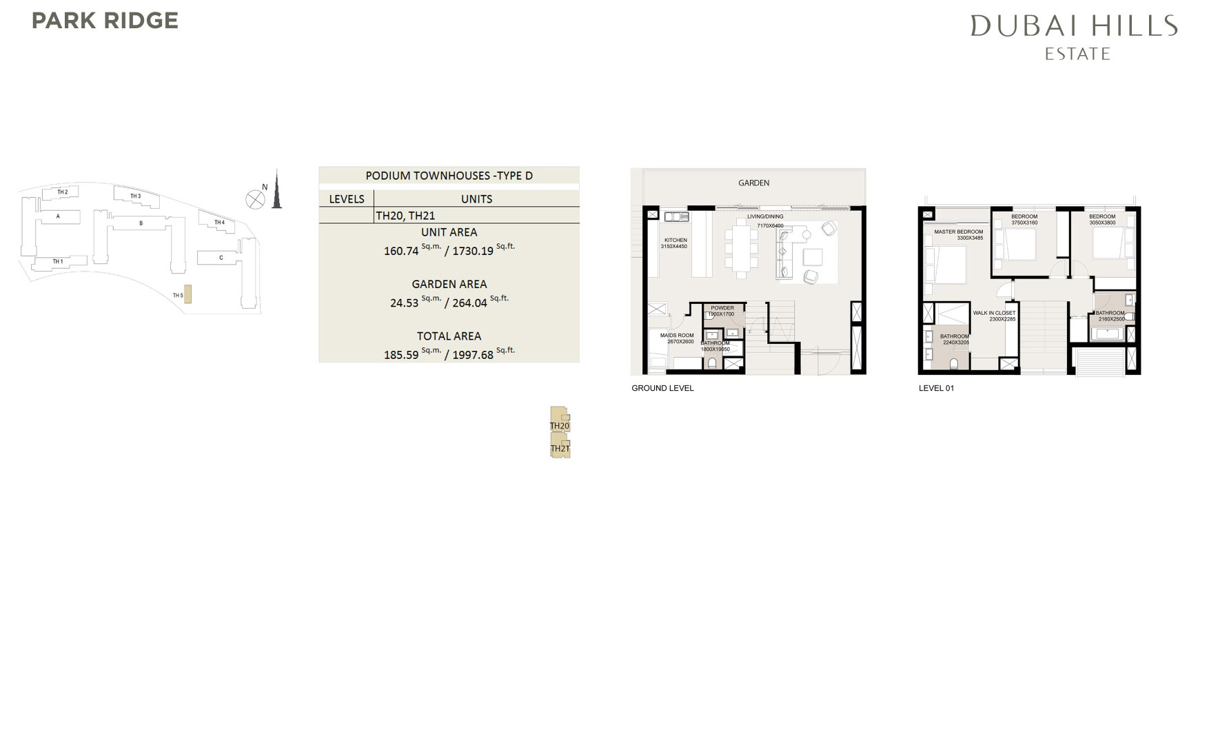 Podium Townhouses 1997 68sqft