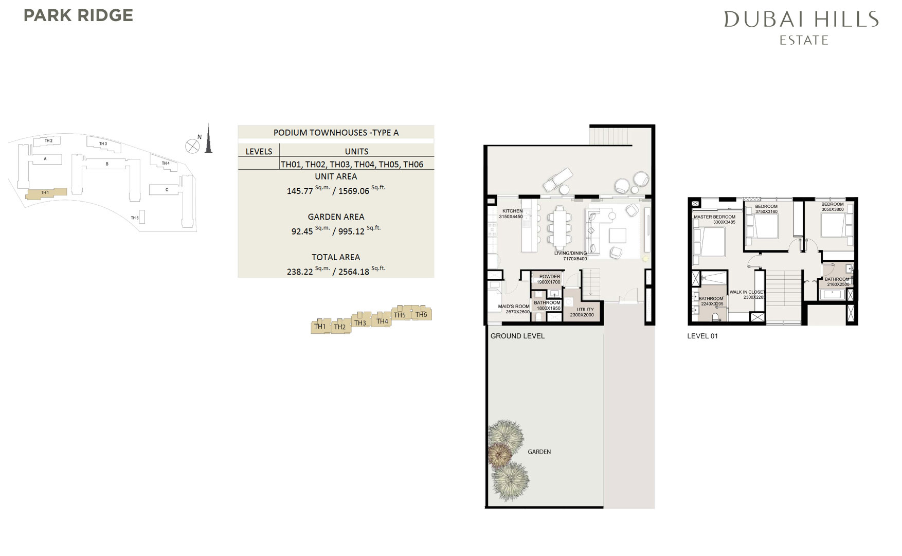 Podium Townhouses 2564 18sqft