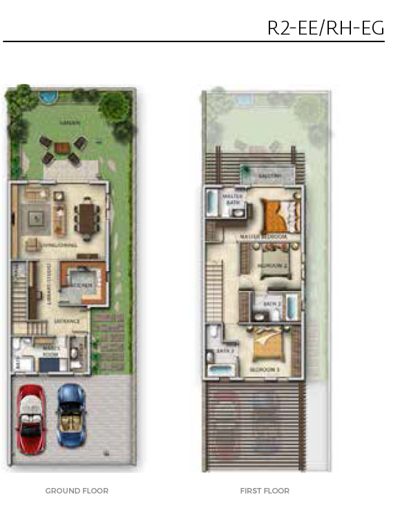 Damac Aurum Villas Floor Plan