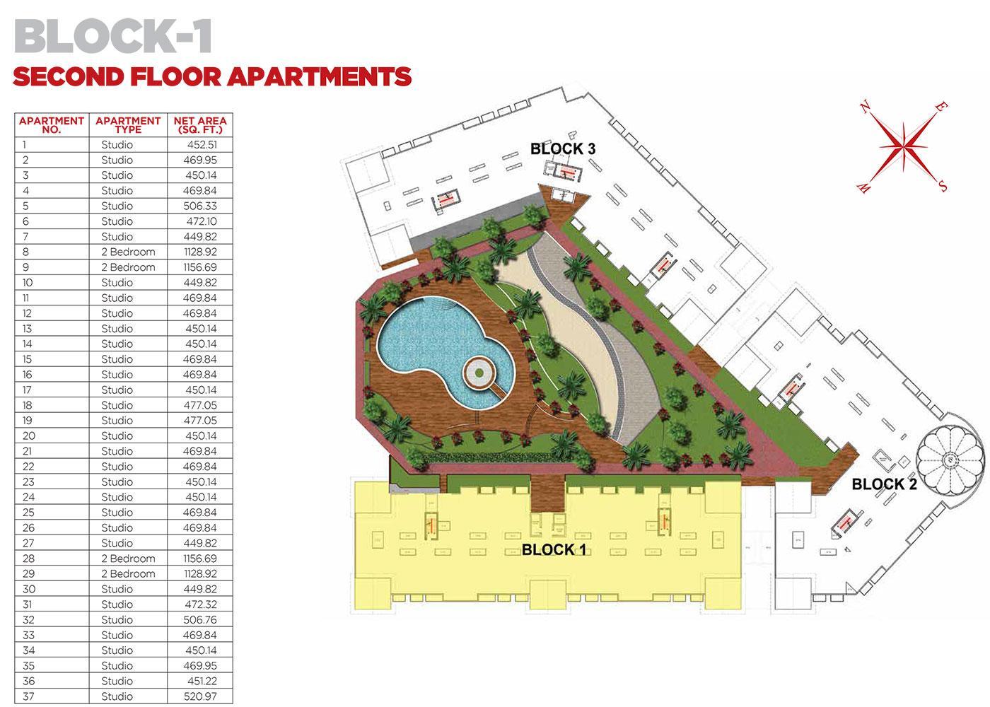 Second Floor Apartments Block 1