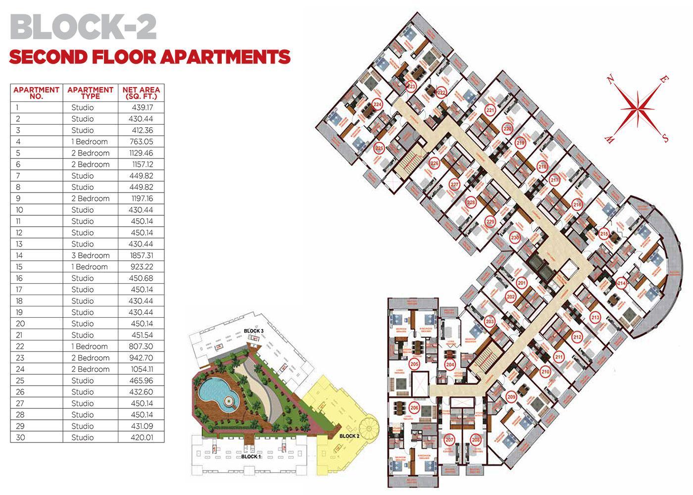 Second Floor Apartments Block 2