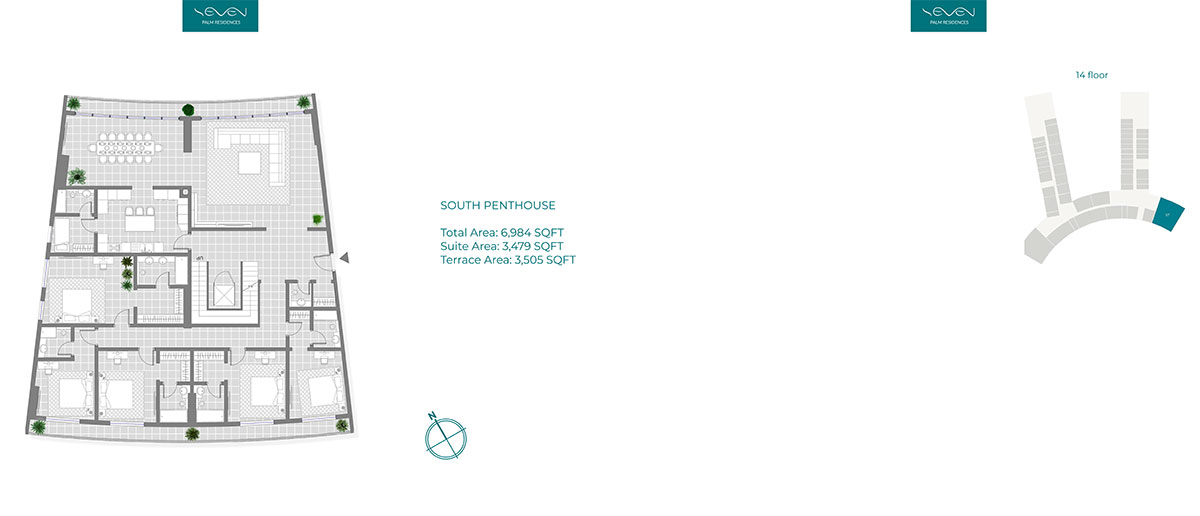 South Penthouse 6984sqft