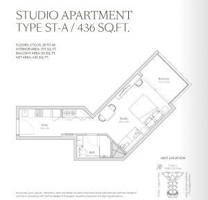 Studio Apartment Type St A 436sqft