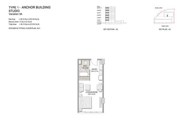Studio Type 1 Anchor Building Variation 3a 2