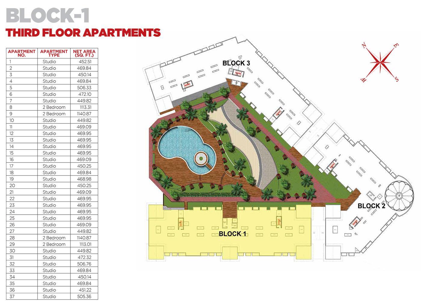 Third Floor Apartments Block 1