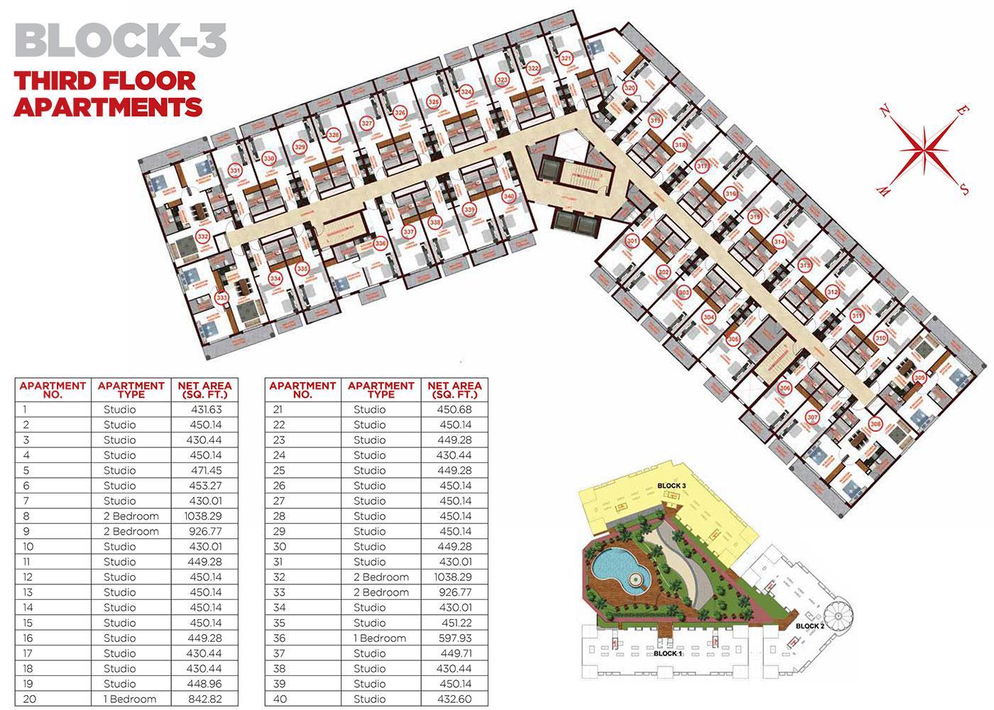 Third Floor Apartments Block 3
