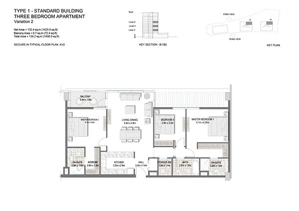 Three Bedroom Apartment Type 1 Standard Building Variation 2