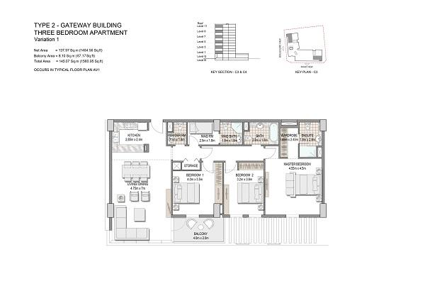 Three Bedroom Apartment Type 2 Gateway Building Variation 1 1