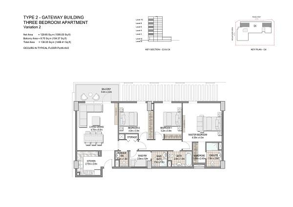 Three Bedroom Apartments Type 2 Gateway Building Variation 2