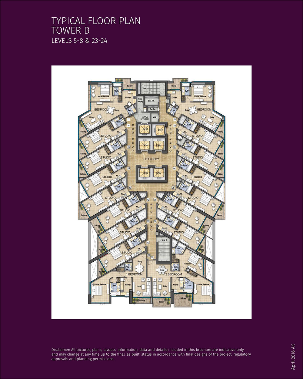Tower B Levels 5 8 & 23 24