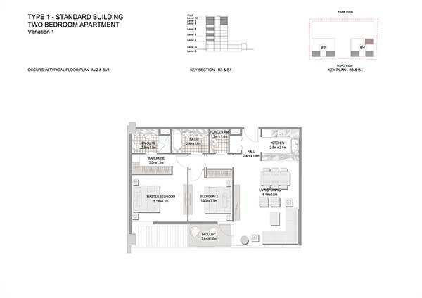 Two Bedroom Apartment Standard Building Variation 1