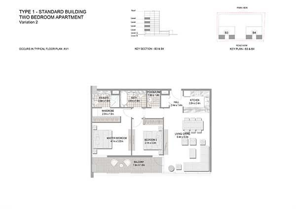 Two Bedroom Apartment Standard Building Variation 2