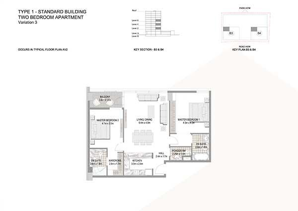 Two Bedroom Apartment Standard Building Variation 3