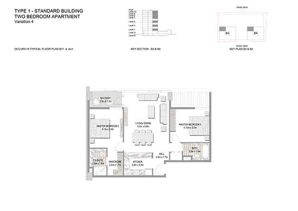 Two Bedroom Apartment Standard Building Variation 4