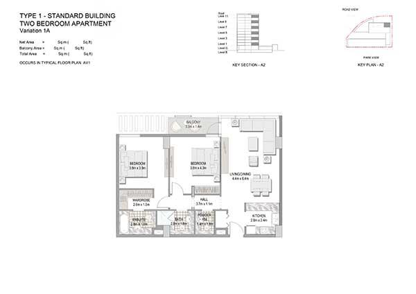 Two Bedroom Apartment Type 1 Standard Building Variation 1a 2