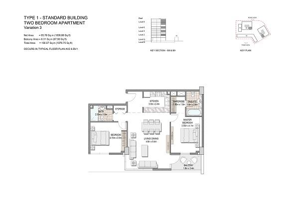 Two Bedroom Apartment Type 1 Standard Building Variation 3
