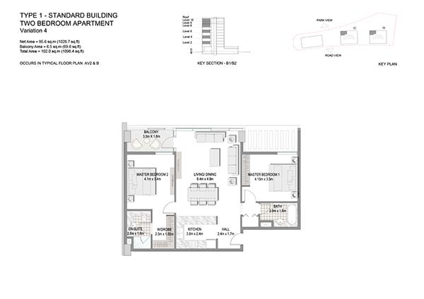 Two Bedroom Apartment Type 1 Standard Building Variation 4