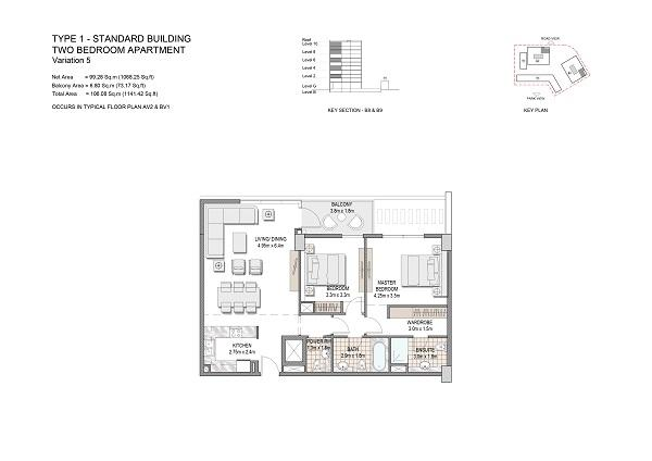Two Bedroom Apartment Type 1 Standard Building Variation 5