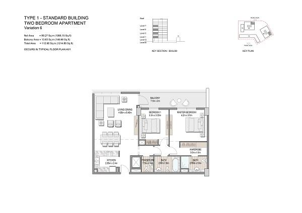Two Bedroom Apartment Type 1 Standard Building Variation 6
