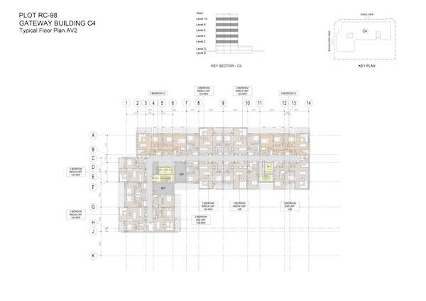 Typical Floor Plan Gateway Building C4 Av2