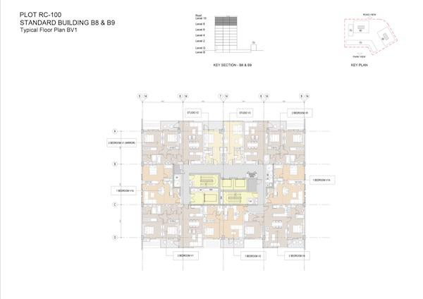 Typical Floor Plan Standard Building B8