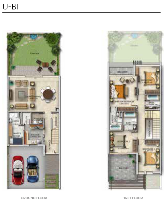 Damac Aurum Villas Floor Plans