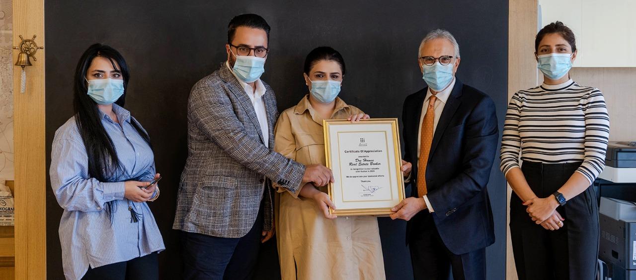 Appreciation award by deyaar properties