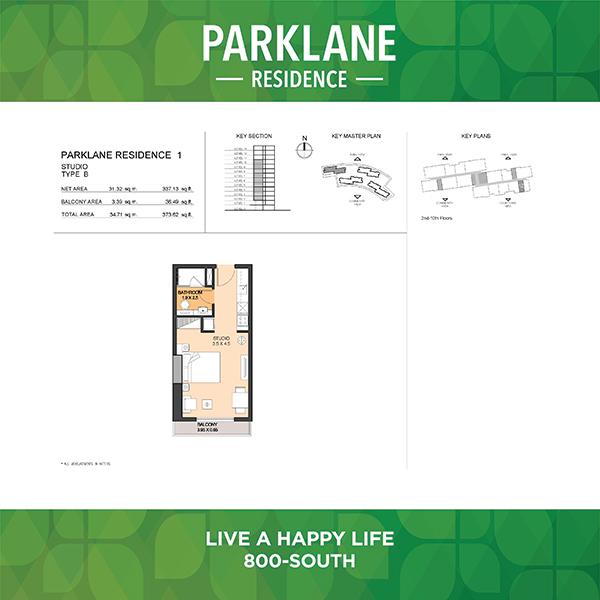 Parklane Residence 1 Studio Type B