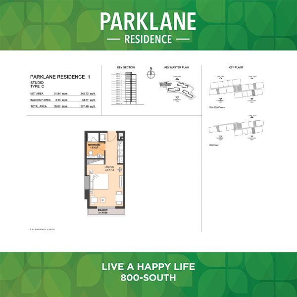 Parklane Residence 1 Studio Type C