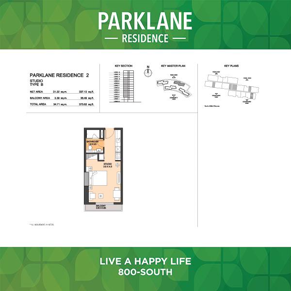Parklane Residence 2 Studio Type B