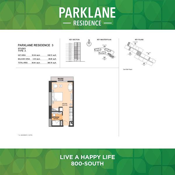 Parklane Residence 3 Studio Type A