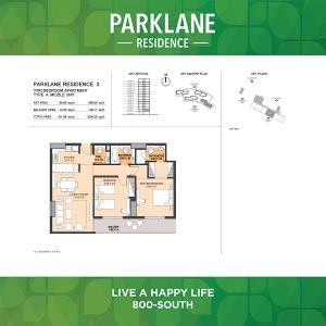 Parklane Residence 3 Two Bedroom Apartment Type A Middle Unit