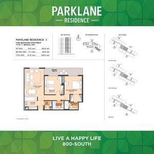 Parklane Residence 3 Two Bedroom Apartment Type F Middle Unit