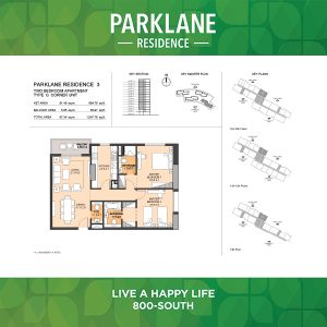 Parklane Residence 3 Two Bedroom Apartment Type G Corner Unit