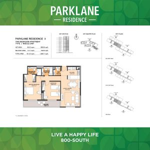 Parklane Residence 3 Two Bedroom Apartment Type J Middle Unit