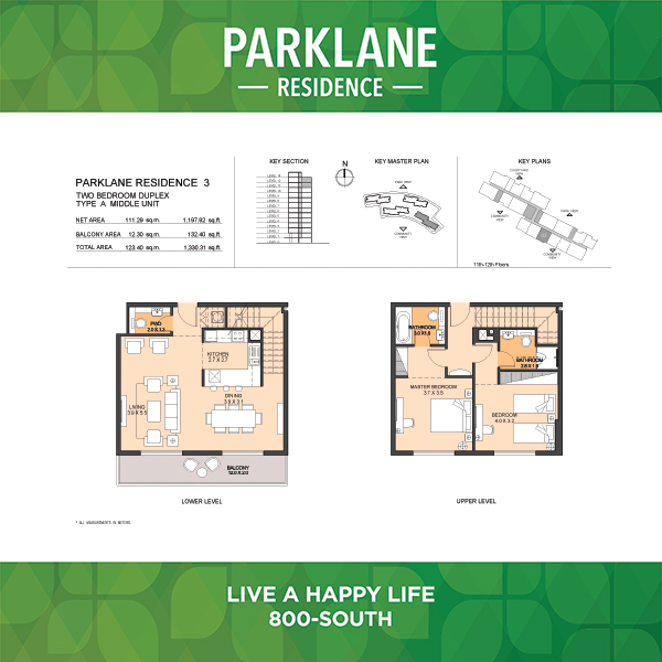 Parklane Residence 3 Two Bedroom Duplex Type A Middle Unit