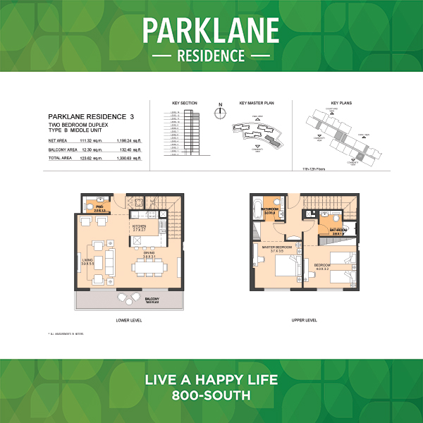 Parklane Residence 3 Two Bedroom Duplex Type B Middle Unit