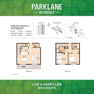 Parklane Residence 3 Two Bedroom Duplex Type D Middle Unit